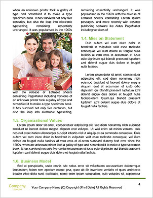 The image of the ideal family on a green lawn Word Template - Page 4