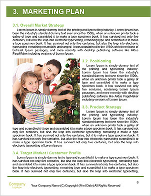 The image of the ideal family on a green lawn Word Template - Page 8