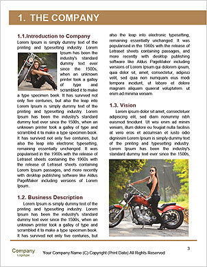 Biker girl sits on a motorcycle Word Template - Page 3
