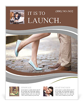 Male and female legs during a date Flyer Template