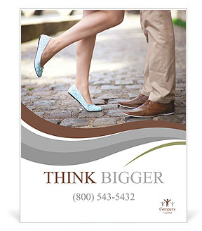 Male and female legs during a date Poster Template