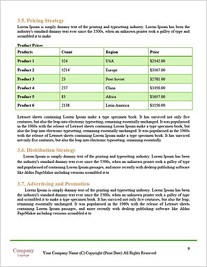 Green flooring in the house Word Template - Page 9