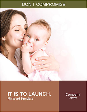 Happy mother holding her baby in her arms Word Template - Page 1