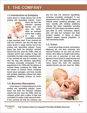 Happy mother holding her baby in her arms Word Template - Page 3