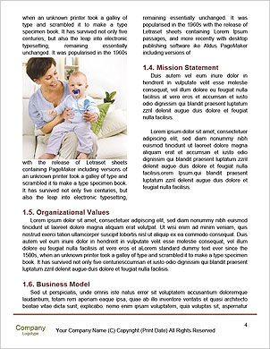 Happy mother holding her baby in her arms Word Template - Page 4