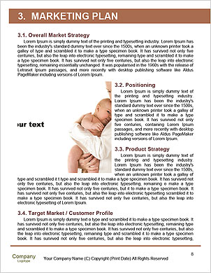 Happy mother holding her baby in her arms Word Template - Page 8