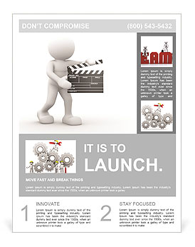 The image of man to shoot films Flyer Template