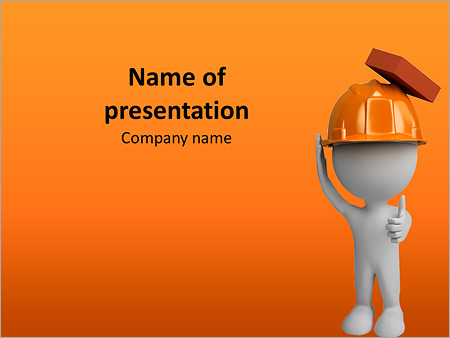 The helmet will save the builder PowerPoint Template