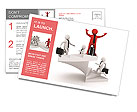 The image of the career ladder Postcard Template