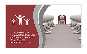 The meeting with the head of the office Business Card Template