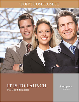 Business team Word Template - Page 1