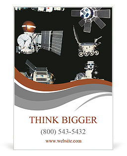 Orbiting satellites Ad Template
