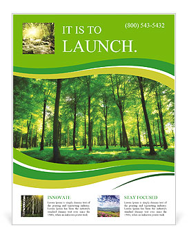 Beautiful thick green forest Flyer Template