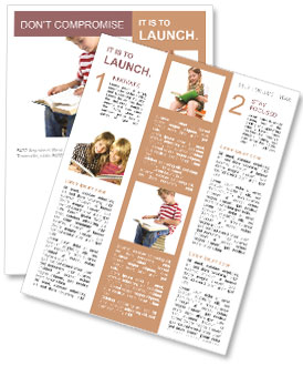 Child sitting on the books of knowledge Newsletter Template