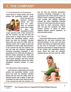 Child sitting on the books of knowledge Word Template - Page 3
