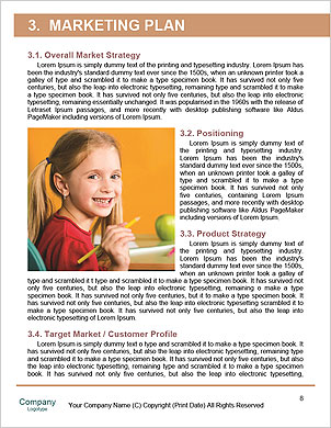 Child sitting on the books of knowledge Word Template - Page 8