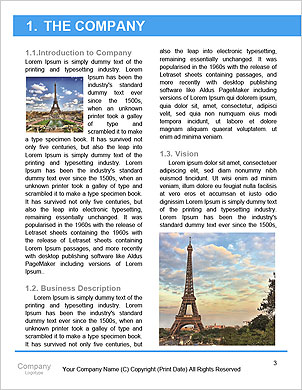 Eiffel Tower, Paris romance Word Template - Page 3