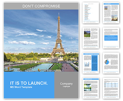 Eiffel Tower, Paris romance Word Template
