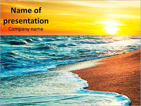 Sun sea beach PowerPoint Template