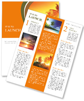 Jungle of Thailand sunset Newsletter Template