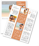 Happy couple on the beach Newsletter Template