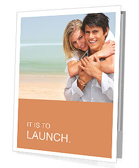 Happy couple on the beach Presentation Folder