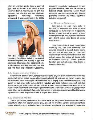 Happy couple on the beach Word Template - Page 4