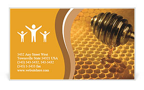 Cell filled with sweet honey Business Card Template