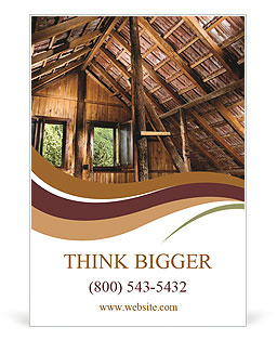 The roof of the old house Ad Template