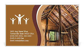 The roof of the old house Business Card Template