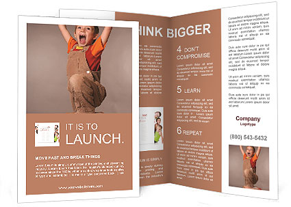 The little boy champion Brochure Template