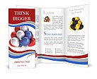 Multi-colored balloons Brochure Template