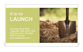 Ground and shovel Business Card Template