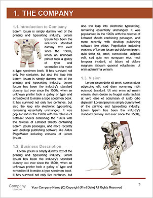Astronaut on the background of the USA flag Word Template - Page 3