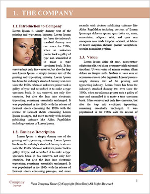 Beautiful model posing Word Template - Page 3