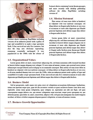 Beautiful model posing Word Template - Page 4