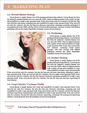 Beautiful model posing Word Template - Page 8