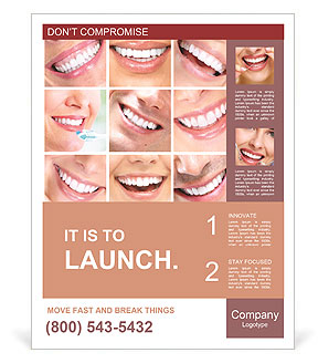 Photo collage of beautiful smiles Poster Template
