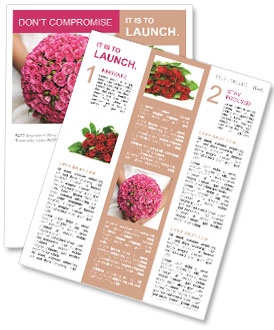 Wedding Bouquet Newsletter Template
