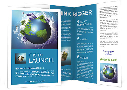 The concept of a green planet preserve nature Brochure Template