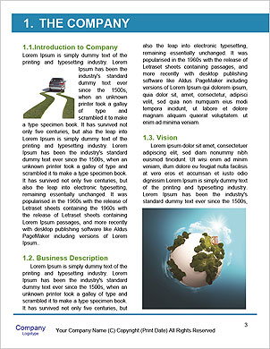 The concept of a green planet preserve nature Word Template - Page 3