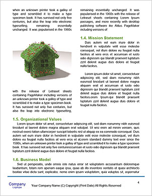 The concept of a green planet preserve nature Word Template - Page 4