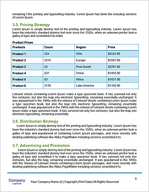 The concept of a green planet preserve nature Word Template - Page 9