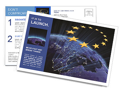 NASA Earth map union Postcard Template