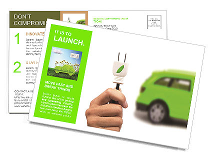Electric car concept for the future Postcard Template