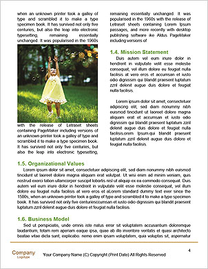 Girl with a wreath of flowers blowing soap bubbles Word Template - Page 4