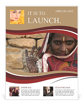 Indian woman Flyer Template