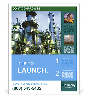 Petrochemical plant Poster Template
