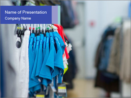 T-shirts Shop PowerPoint Template