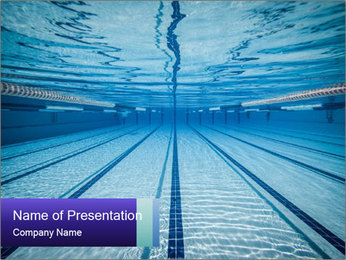 Swimming Pool Water PowerPoint Template
